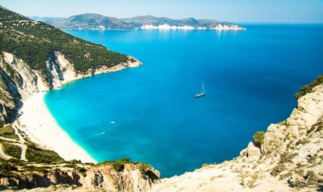 Plaža Myrtos Beach na Kefaloniji